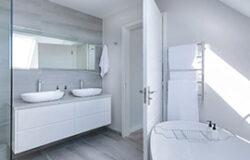 glassy bathroom remodeling
